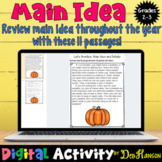 Main Idea and Supporting Details: 11 Monthly Worksheets using Google Slides