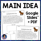 Main Idea and Details Reading Comprehension Passages and Questions