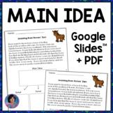 3rd Grade Digital Morning Work: Main Idea & Details Worksh