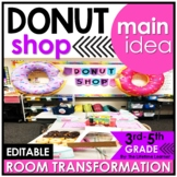 Main Idea and Supporting Details   3rd Grade Donut Shop Classroom Transformation