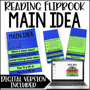 Main Idea and Supporting Details Activity | Main Idea Flipbook