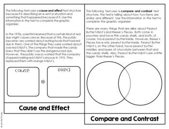 Informational Text Structures Activity | Text Structures Flipbook