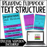 Informational Text Structures Activity | Text Structures Flipbook