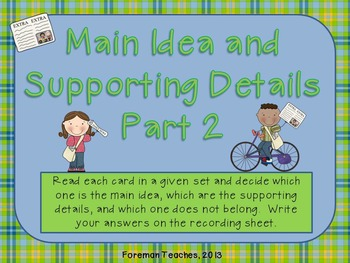 Main Idea and Supporting Details Bundle