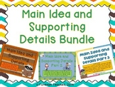 Main Idea and Supporting Details Bundle: Parts 1, 2, and 3