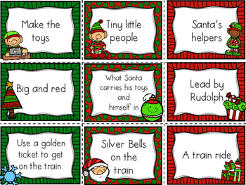 Main Idea and Supporting Details Center-- Christmas Themed