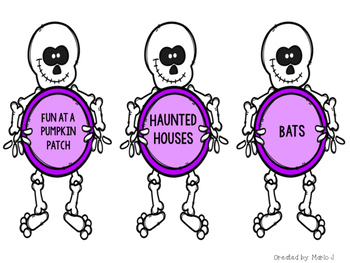 Main Idea and Supporting Details Center-- Halloween Themed