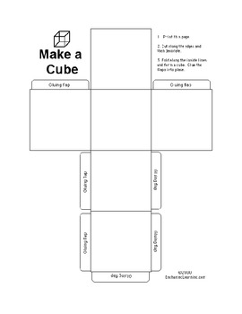 Main Idea and Supporting Details Cubes