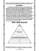 Main Idea and Supporting Details Egypt Themed Grades 4-6