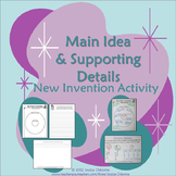 """Main Idea and Details Fun """"New Invention"""" Activity"""