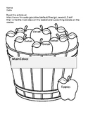 Main Idea and Supporting Details Fall Apple ~FREEBIE