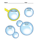 Main Idea and Supporting Details Graphic Organizer Worksheet Bubbles