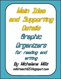 Main Idea and Supporting Details Graphic Organizers for Reading and Writing