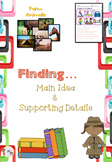 Main Idea and Supporting Details Graphic Organizers + picture cards