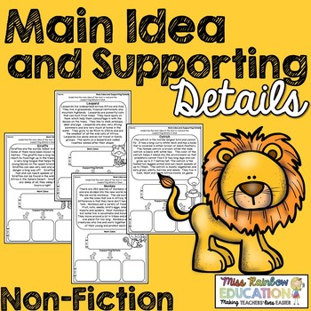 Main Idea and Supporting Details (Non-Fiction) No Prep