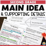 Main Idea and Supporting Details Passages & Activities 2nd Grade