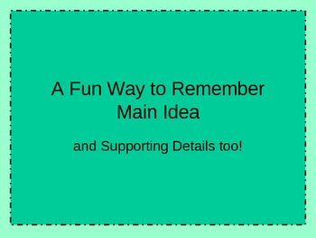 Main idea and supporting details powerpoint and interactive.