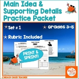 Main Idea - Supporting Details Packet NO PREP!