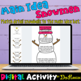Main Idea and Supporting Details Snowmen using Google Slid