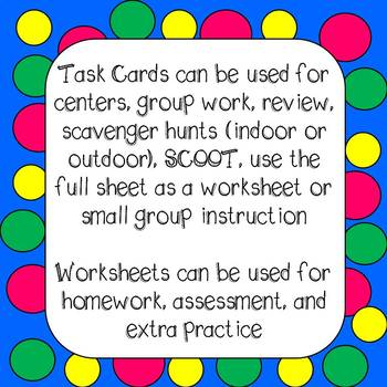 Main Idea and Supporting Details Task Cards and Worksheets