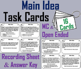 Main Idea and Supporting Details Task Cards Activity (Distance Learning)