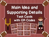 Main Idea and Supporting Details Task Cards with QR Codes - Football