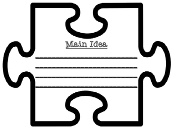 Main Idea and Supporting Details Text Talk Jigsaw Puzzle Pieces