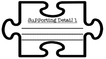 Main Idea and Supporting Details Text Talk Jigsaw Puzzle Pieces--Legal Sized