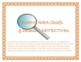 Main Idea and Supporting Details Week Long Unit - Jewelry Heist Mystery