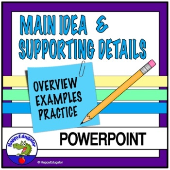 Main ideas supporting details for third grade.