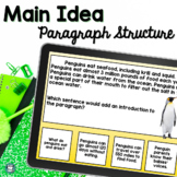 Main Idea Task Cards and Nonfiction Text Structure Task Cards