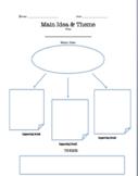 Main Idea and Theme Graphic Organizer