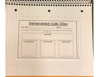 Main Idea and Theme Interactive Notebook [Anchor Chart and Organizers!]