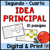 Main Idea and details in Spanish- Idea principal y detalles - Reading in Spanish
