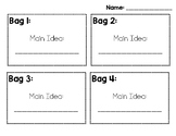 Main Idea bags and recording page