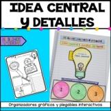 Interactive notebook Main Idea & details | Idea central y detalles del texto