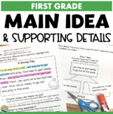 Main Idea for 1st Grade Reading Passages and Comprehension Questions