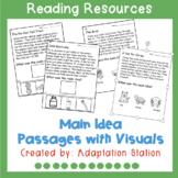 Main Idea Visual Support Worksheets (VAAP Resource)