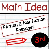 Main Idea for Third Grade: Differentiated Passages  Print and Digital