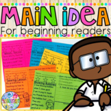 Main Idea {for beginning readers}   Distance Learning
