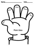 "Main Idea ""hand"" Graphic Organizer"