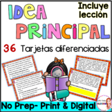 Main Idea in Spanish - Task Cards - Idea Principal en espa