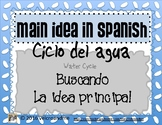 Main Idea in Spanish with Water Cycle - Idea Principal y el Ciclo del Agua