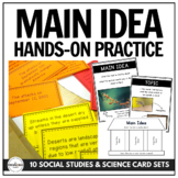 Main Idea in a Bag: Hands-On Practice with 10 Social Studies & Science Card Sets
