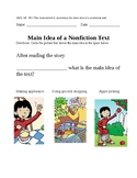Main Idea of Nonfiction text- VAAP