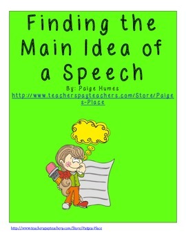 Main Idea of a Speech