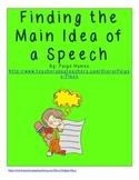 Main Idea of a Speech