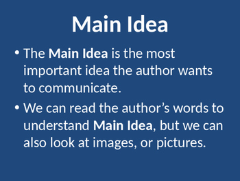 Main Idea of an Image
