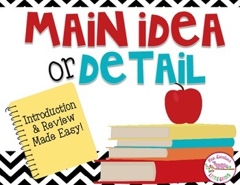 Main Idea or Detail Student Response Activity