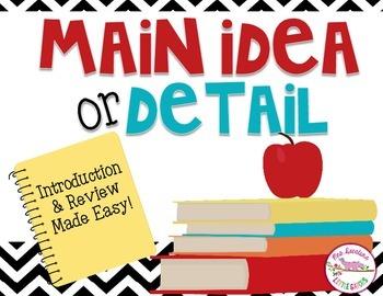 Main Idea or Detail Student Response Activity